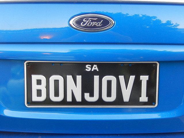 Bonjovi Number Plate