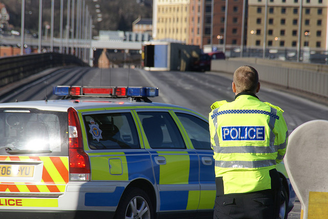 Road traffic accident, Redheugh Bridge, Gateshead