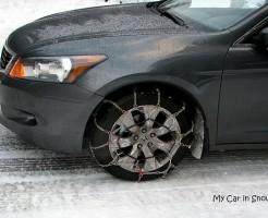 My Car at snow Mt. Rainier